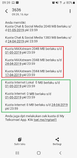 cara cek kuota maxstream