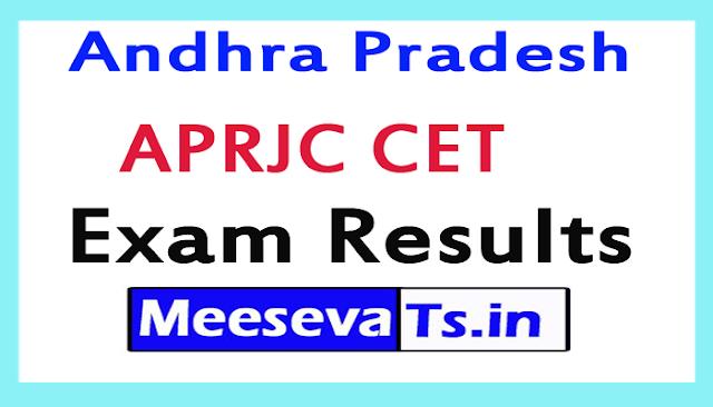 APRJC CET Exam Results 2018