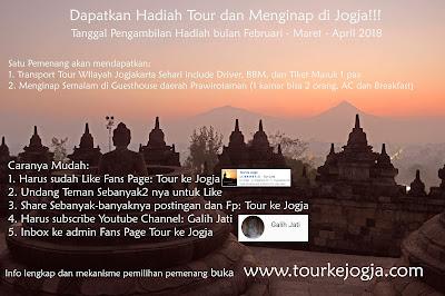 Hadiah Tour dan Menginap di Jogja