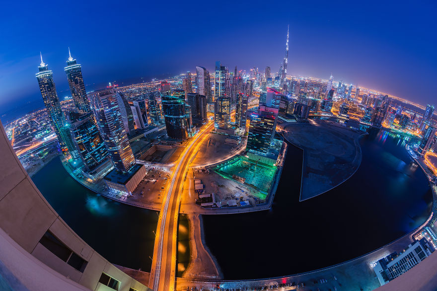A Small World - Night-Time Dubai Looks Like It Came Straight From A Sci-Fi Movie