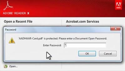 e adhar password