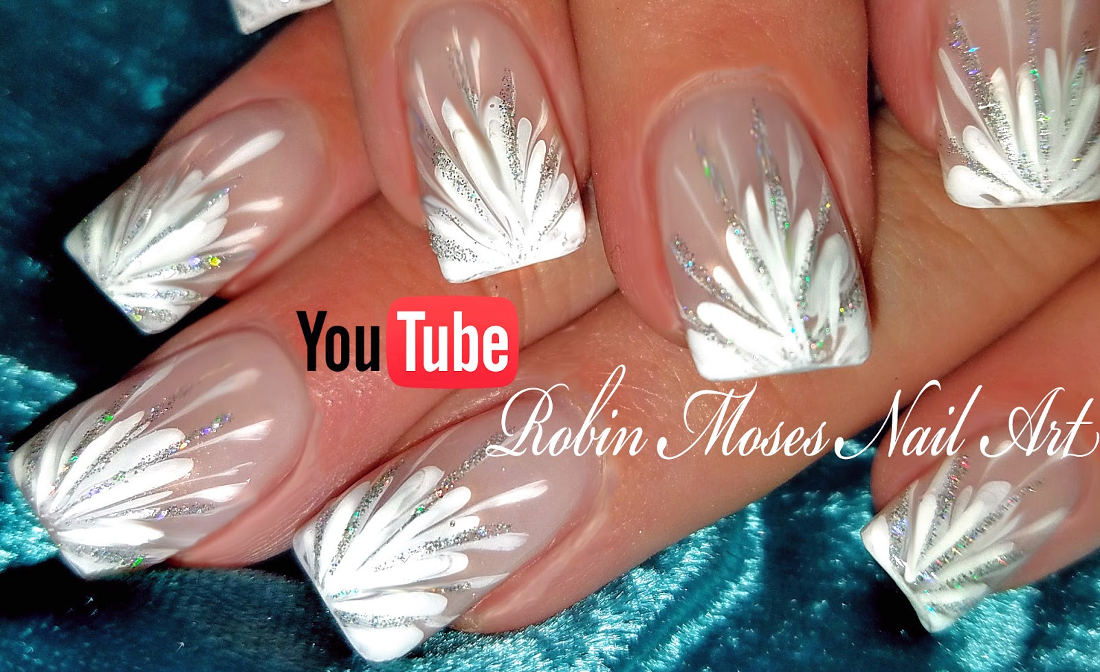 Nail Art By Robin Moses No Water Needed Diy White Starburst Drag