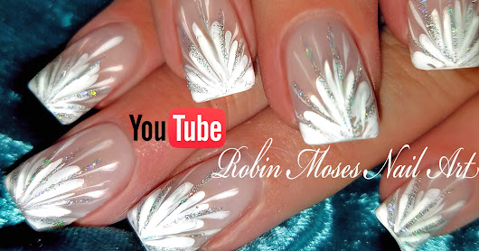 No Water Needed - DIY White Starburst Drag Marble nail art Tutorial