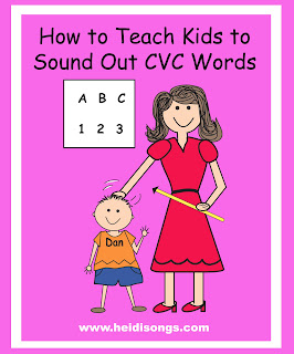how to teach kids to sound out three letter words cvc words heidi songs
