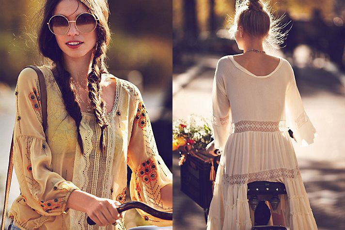 Free People, a specialty women's clothing brand, is the destination for bohemian fashion that features the latest trends and vintage collections for women who live free through fashion, art, music, and travel.