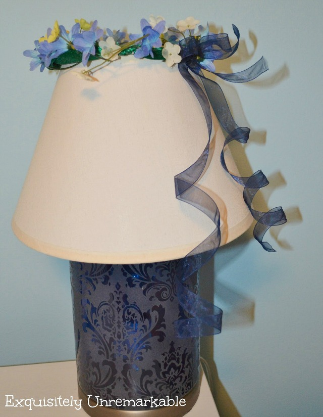 Floral Garland on Lampshade