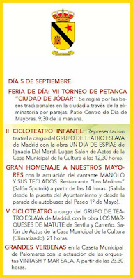 Programa de la Feria de Jódar 2017 - 5 de Septiembre