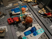 Lego Diorama: Star Wars Revenge of the Sith duel on Mustafar