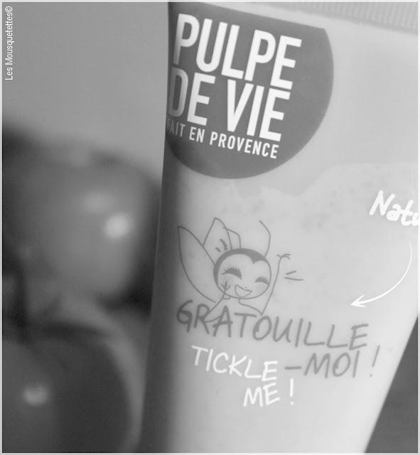 Gratouille Moi gommage corps Pulpe de Vie - Les Mousquetettes©