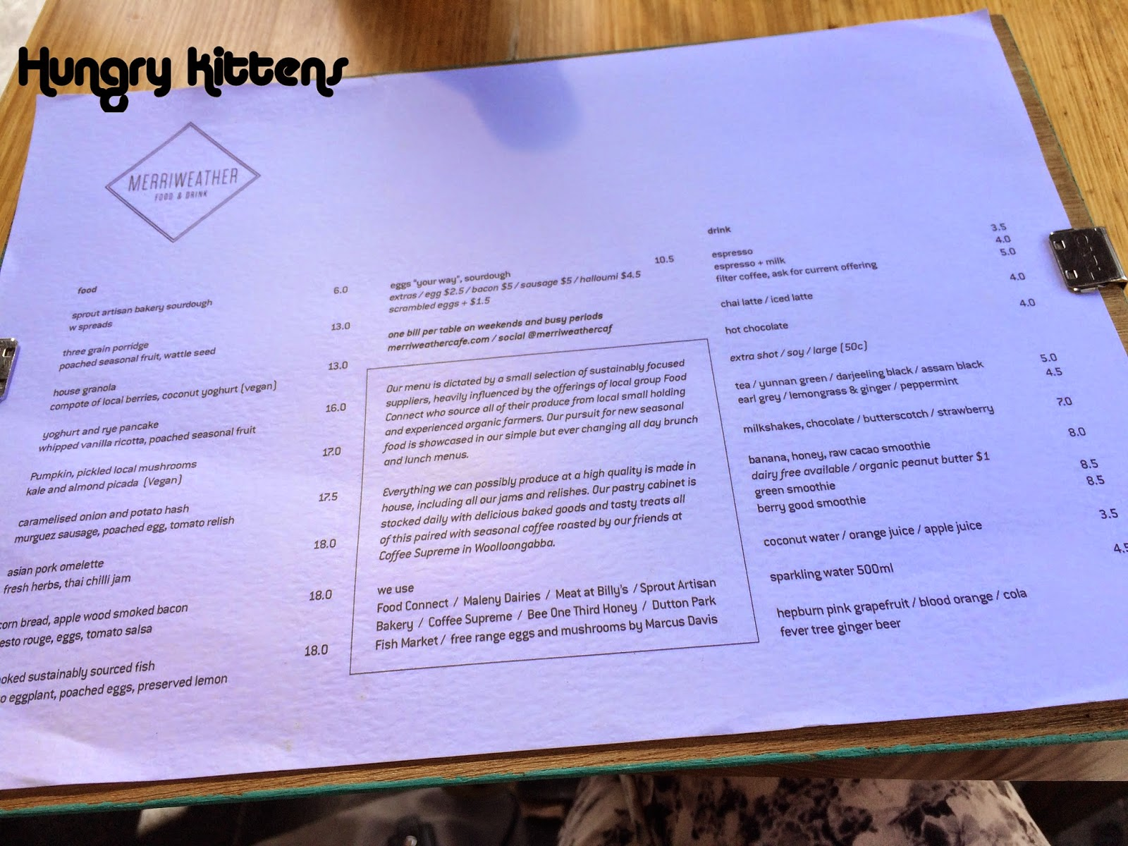 Hungry Kittens: Lunch at Merriweather Cafe
