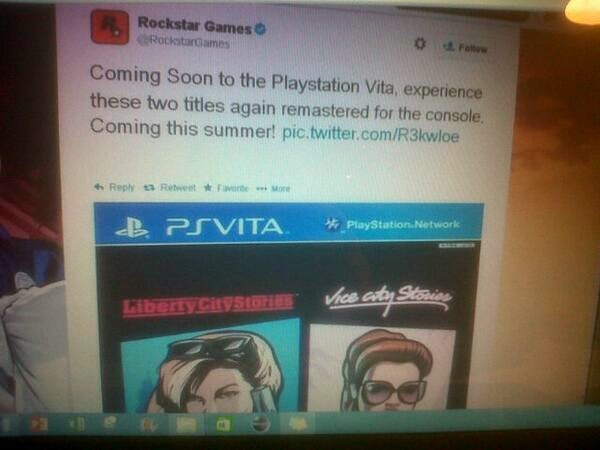 PS4VITANEWS: Remastered Grand Theft Auto City Stories coming