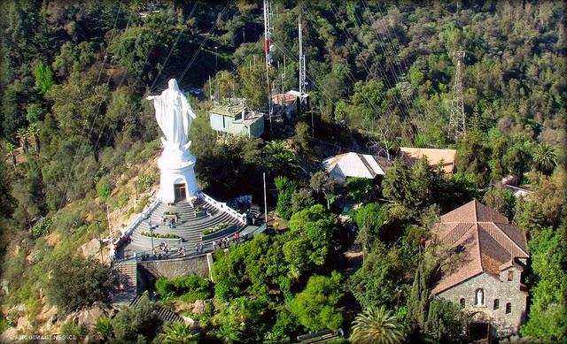 Mirador Cerro San Cristóbal em Santiago do Chile