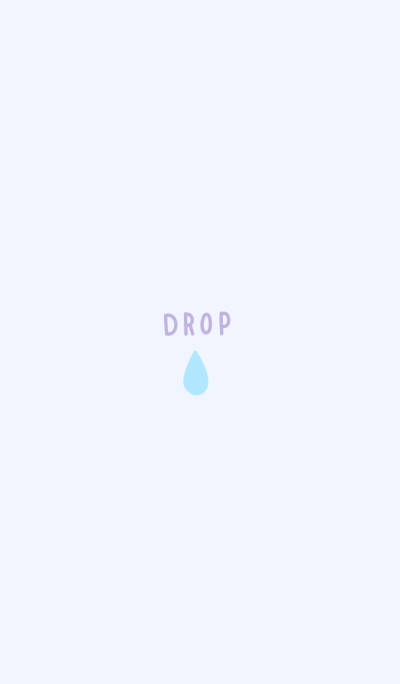 small raindrop