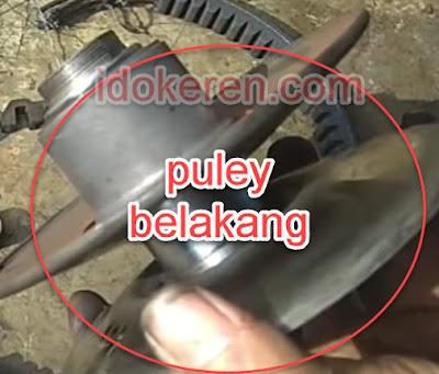 Pegerakan Puley belakang tidak lancar