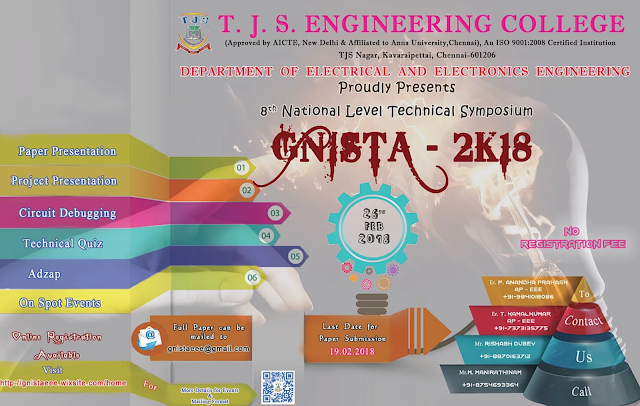 GNISTA2K18: TECHNICAL SYMPOSIUM