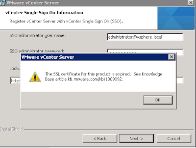 vCenter 5.0 to 5.5 Upgrade fails due to an expired SSL Certificate
