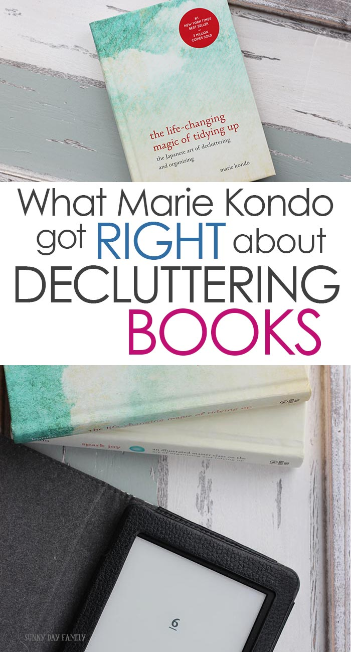 Can you declutter your bookshelves and still love to read? YES! Learn how to KonMari your books and still enjoy reading with these simple tips. Find out what Marie Kondo really means when she says we should declutter our books and how to keep bookshelves clutter free! #konmari #declutter #mariekondo #tidyup #organizedhome