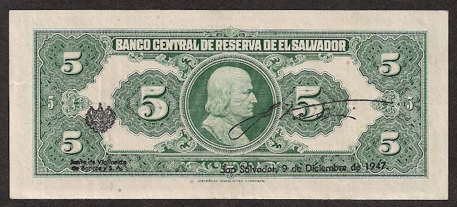 Salvador cinco Colones