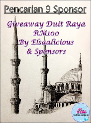 Pencarian 9 Sponsor: Giveaway Duit Raya RM100 By Elsaalicious & Sponsors
