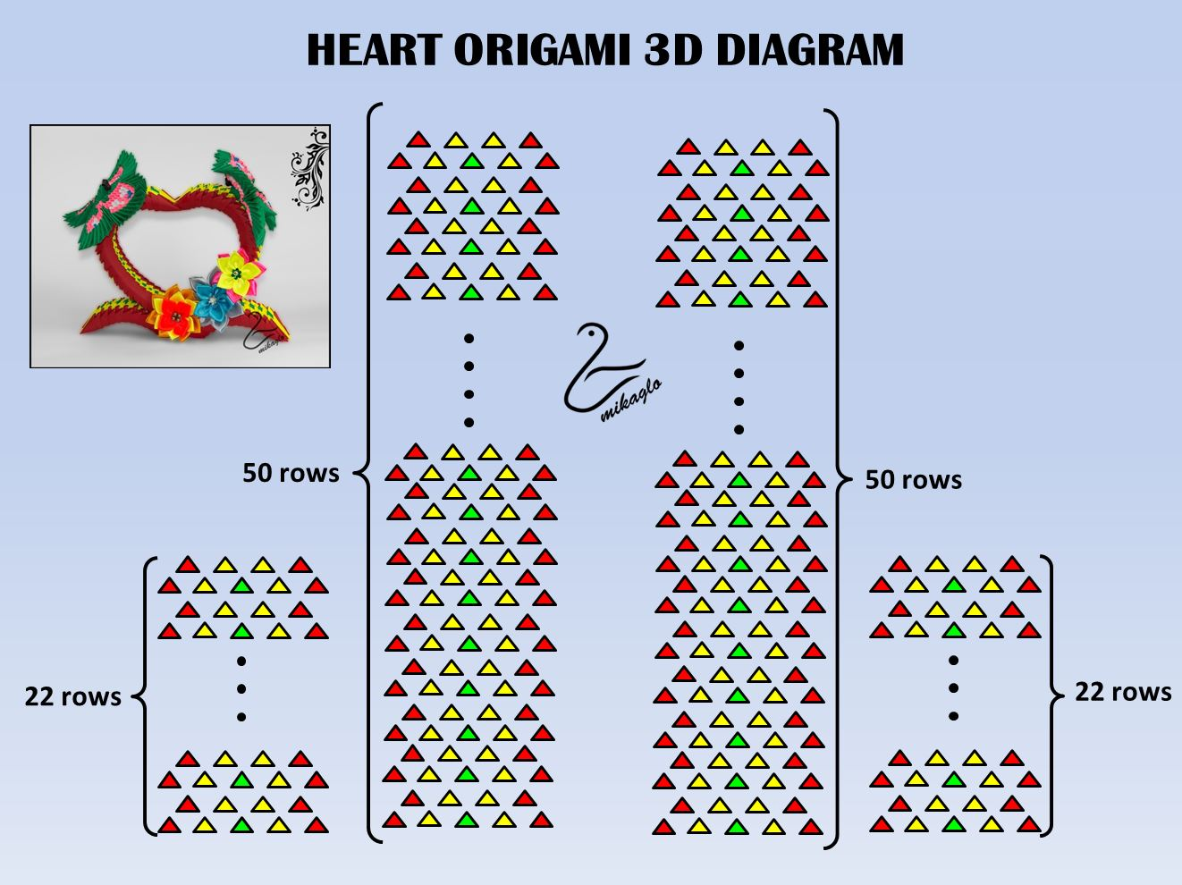 Origami 3d Christmas Tree Instructions