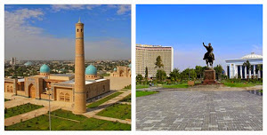 Khazret-Imam (left) and Amir Temur Square (right)