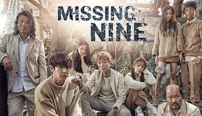 Korean Drama Missing Nine Lakonan Jung Kyung Ho, Baek Jin Hee, Choi Tae Joon, Lee Sun Bin, kapal terbang terhempas ke dalam laut, terperangkap di sebuah pulau misteri, survivor, survival,