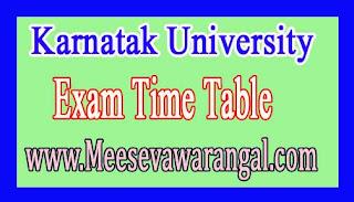 Karnatak University PG Course PGDCA/Diploma Ist & IInd Sem Dec/Jan 2016-17 Time Table