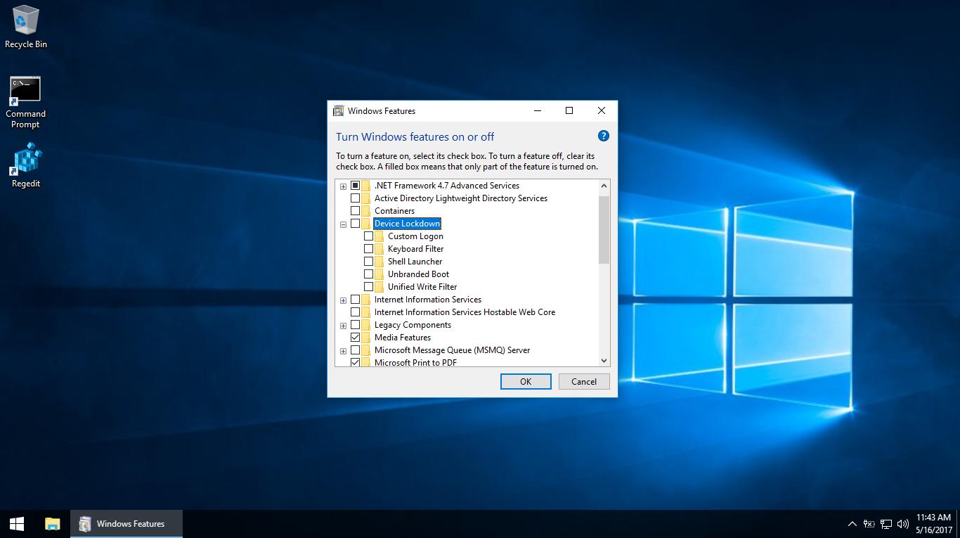 Hướng dẫn gỡ bỏ tính năng Device Lockdown trong Windows 10