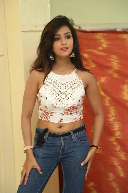 Deekshita Parvathi in a short crop top and Denim Jeans Spicy Pics Beautiful Actress Deekshita Parvathi January 2017 CelebxNext (18).JPG