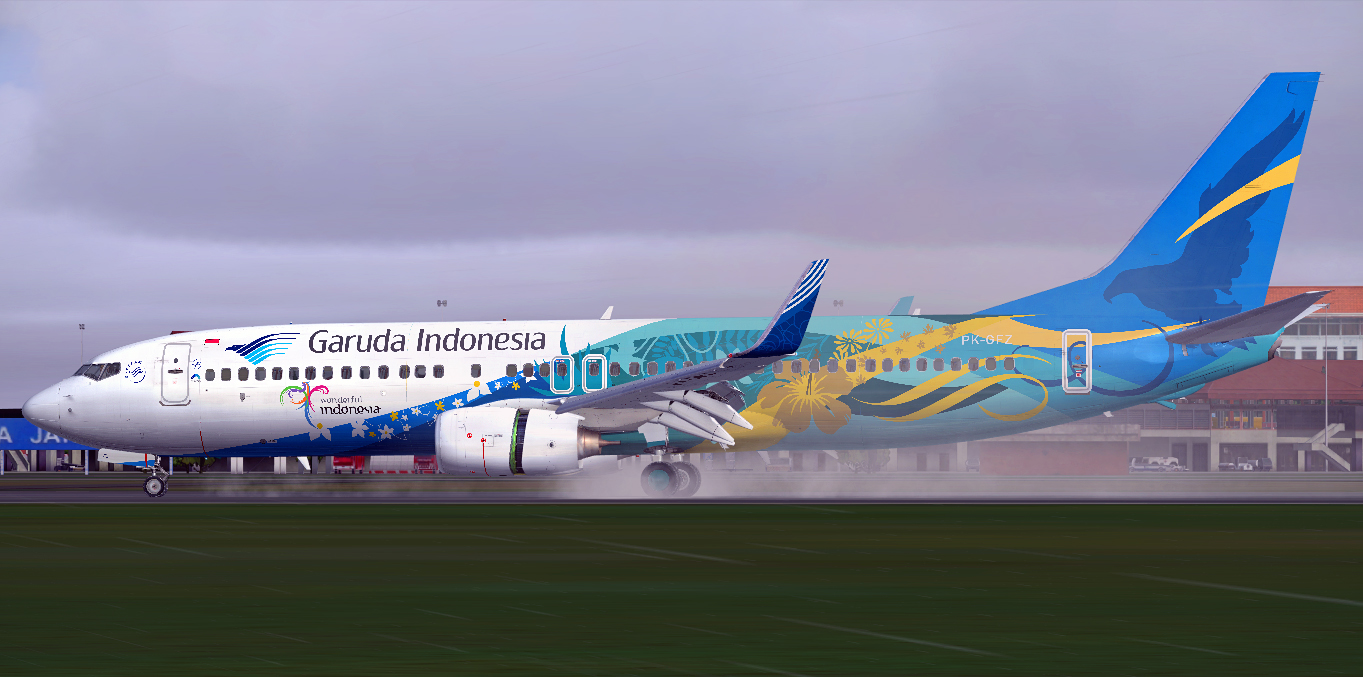 Boeing 737-86N/WL / Garuda Indonesia / PK-GFZ / Fictional