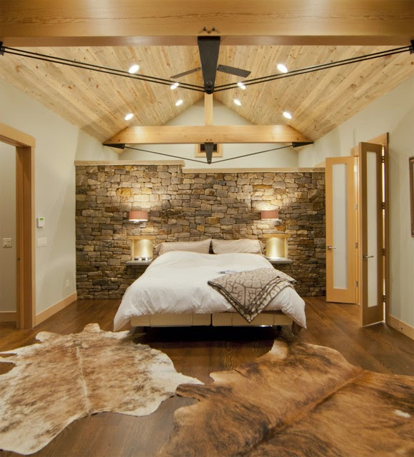 29 Disenos Banos Visitas Elegantes 21: Hogares Frescos: 19 Dormitorios Elegantes: Ideas Con Muro De Piedra
