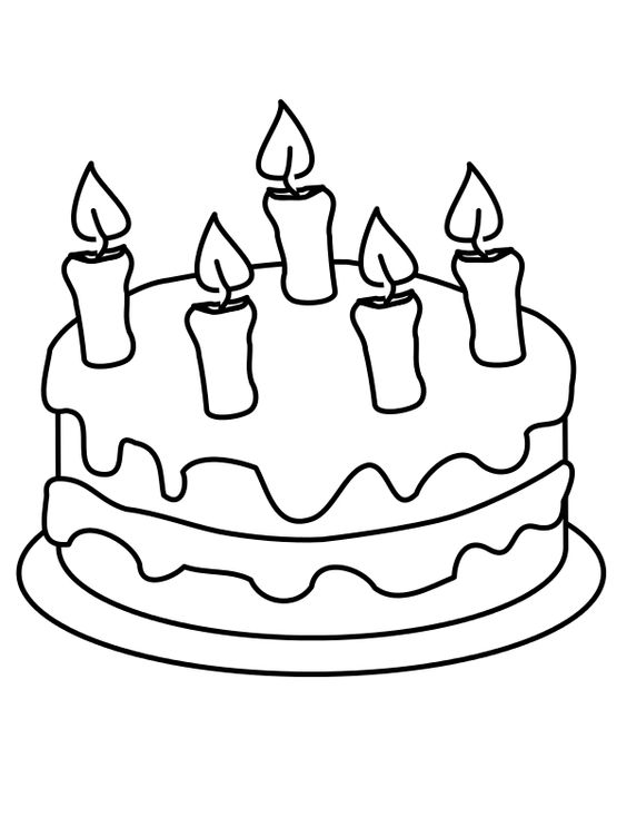 Tranh tô màu bánh sinh nhật 5