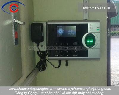 Hoàn thành lắp đặt máy chấm công tại KCN Tràng Duệ, Hải Phòng - Công ty Insung Hivina.