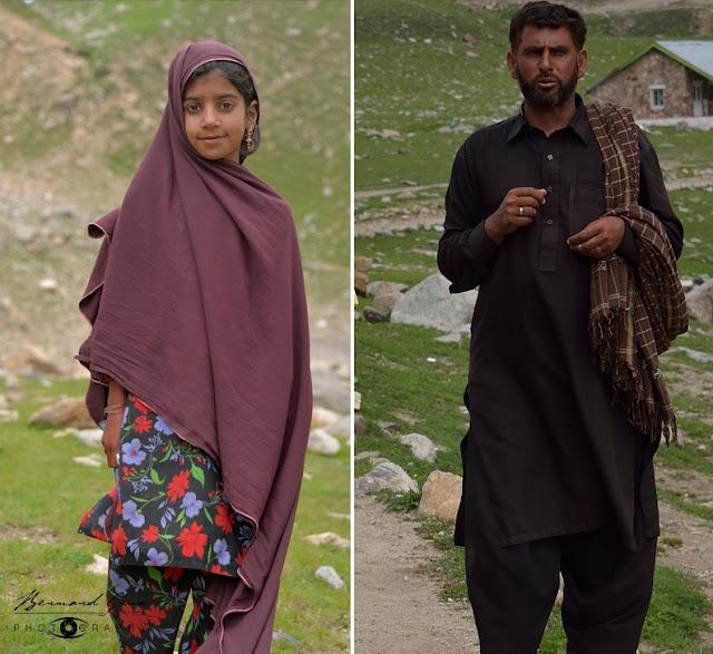Gujars: a young girl and man from mountains at lake Saif ul Malook, Kaghan Valley (south of babusar Pass) © Bernard Grua