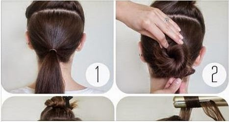 Curly Bun For Straight Hair Tutorial Calgary Edmonton