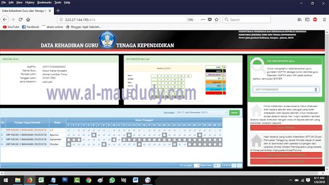 Tampilan baru aplikasi Daftar Hadir GTK Online