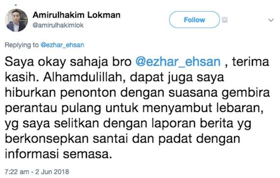 Saiful Nizam Ismail kritik Amirulhakim Lokman