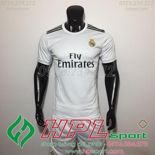 Áo đá bóng câu lạc bộ Real Trắng 2019