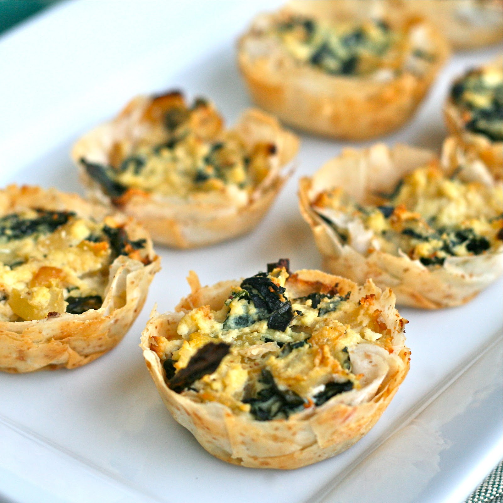 X is for Xeri Mizithra Cheese Spanakopita Cups}