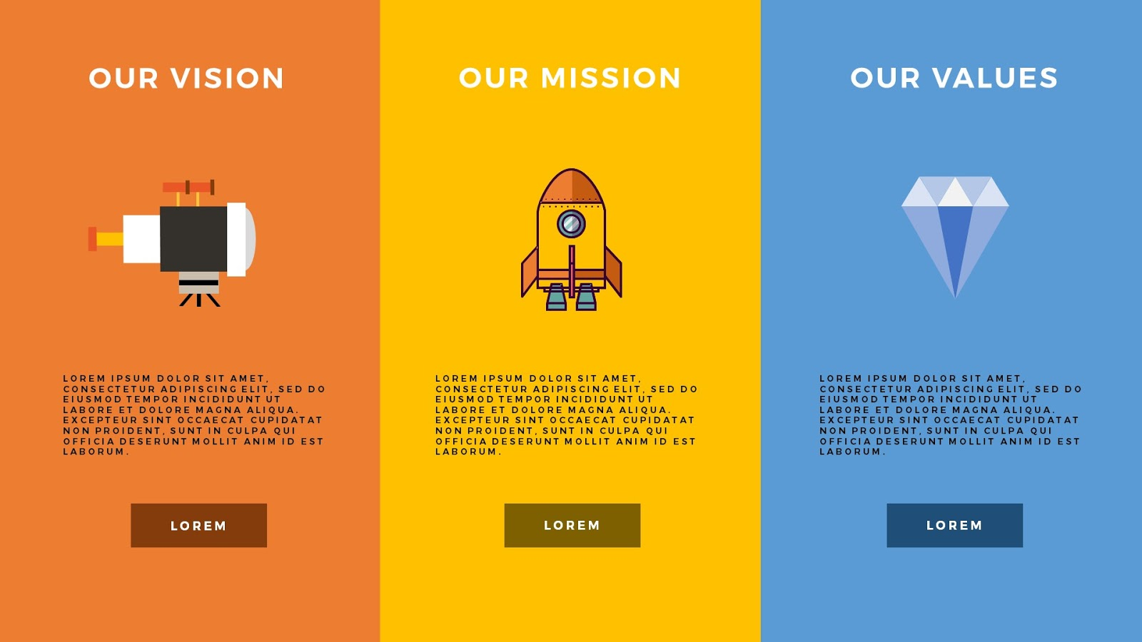 Vision mission and values infographic presentation free for Vision statement template free
