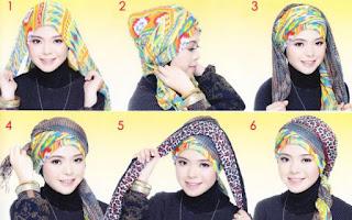 Tutorial hijab turban modis untuk lebaran