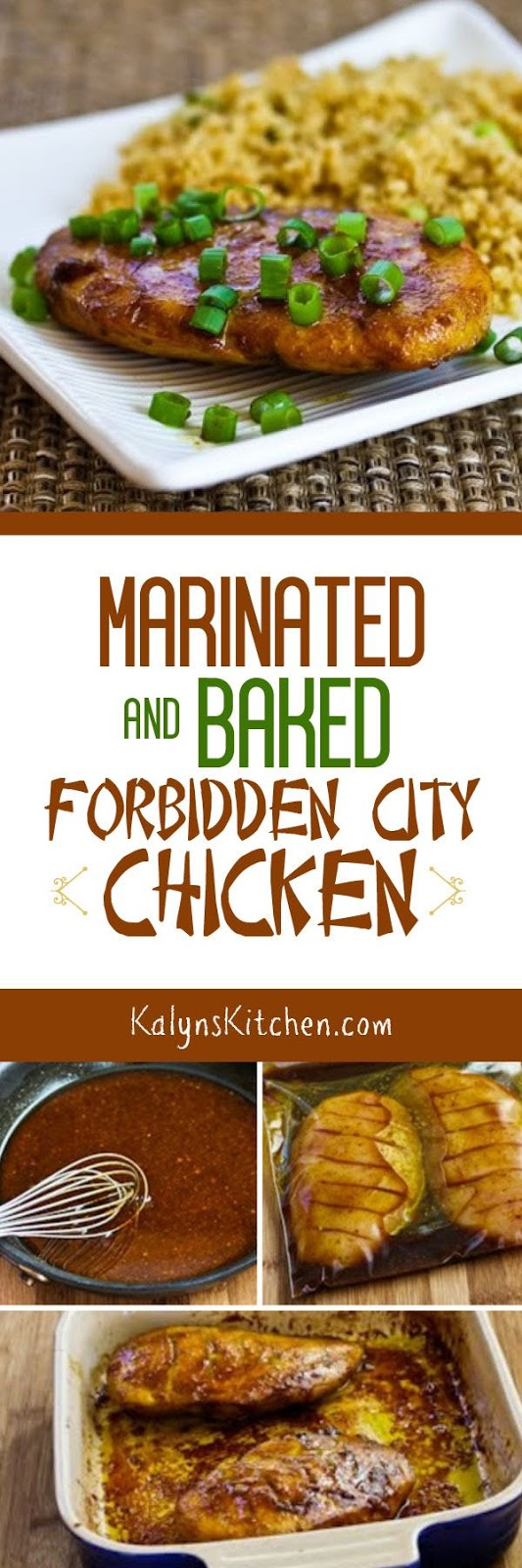 Marinated and Baked Forbidden City Chicken - Kalyn's Kitchen