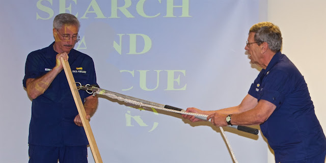 J.Morrone and W.Alsegg, DSO-OP provide instruction on use of new type of skiff hook