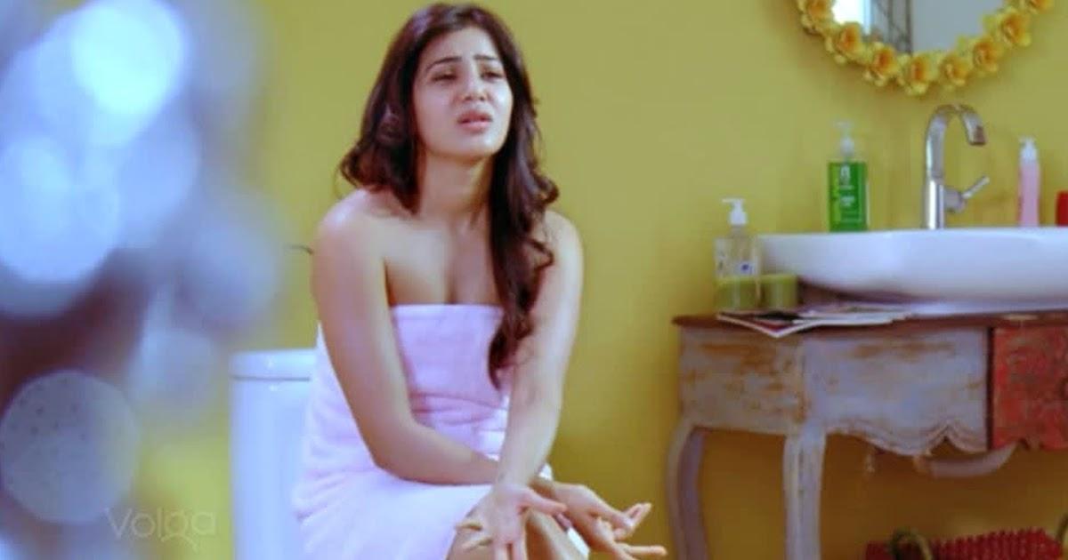 Actress samantha bathroom scene in trivikram a aa for Bathroom scenes photos