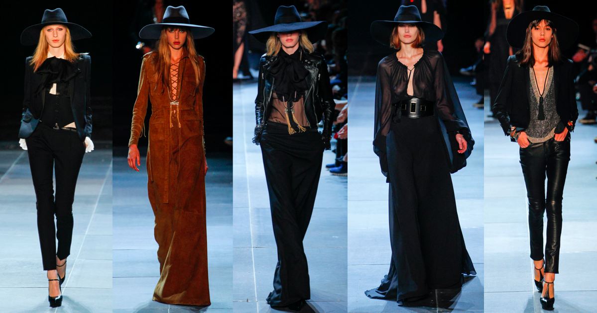 hedi slimane ysl, runway catwalk fashion week