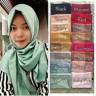Model Pashmina Satin biasa