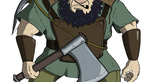 D&D Basic - NPC Gallery: Mountain Dwarf Thug
