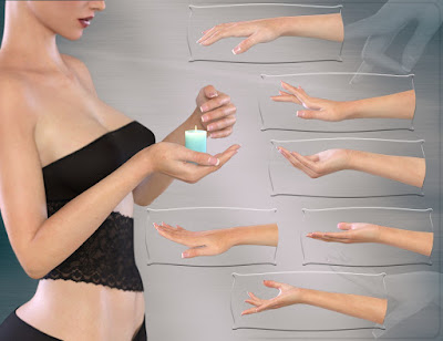 Z Intricate Hands for Genesis 3 Female