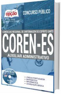 Apostila COREN-ES 2017 Auxiliar Administrativo