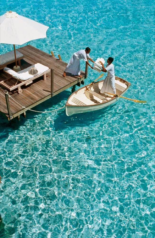 No detail overlooked: fresh towels delivered to each suite by boat. - This Secret Paradise Can Be Only Accessed By A Boat… And WOW Is It Worth It!